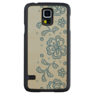 Lace pattern, flower vintage 2 carved maple galaxy s5 case