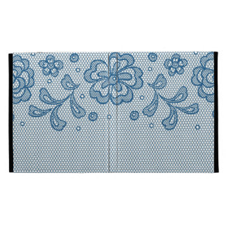 Lace pattern, flower vintage 2 iPad folio cover