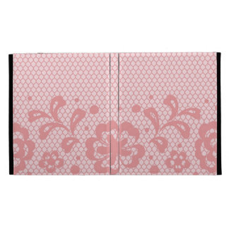 Lace pattern, flower vintage 3 iPad folio cover