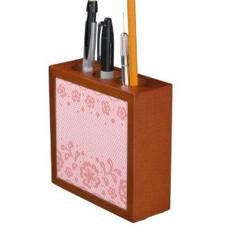 Lace pattern, flower vintage 3 desk organiser