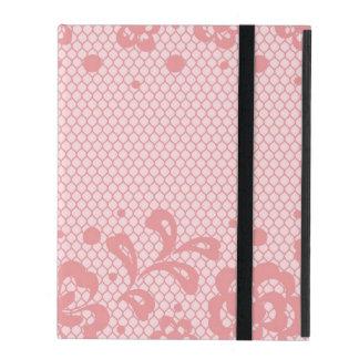 Lace pattern, flower vintage 3 iPad folio case
