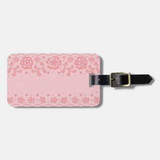 Lace pattern, flower vintage 3 luggage tag