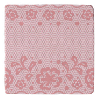 Lace pattern, flower vintage 3 trivet