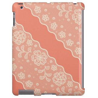 Lace pattern, flower vintage 4 iPad case
