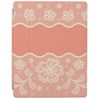 Lace pattern, flower vintage 4 iPad cover
