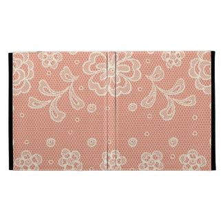 Lace pattern, flower vintage 4 iPad folio case