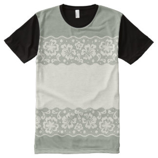 Lace pattern, flower vintage 5 All-Over print T-Shirt
