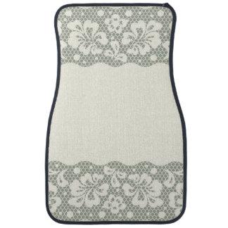 Lace pattern, flower vintage 5 car mat