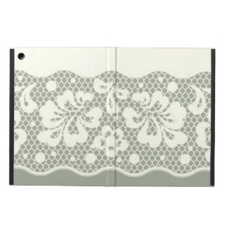 Lace pattern, flower vintage 5 iPad air cover