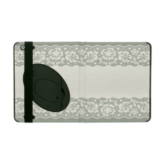 Lace pattern, flower vintage 5 iPad folio cover