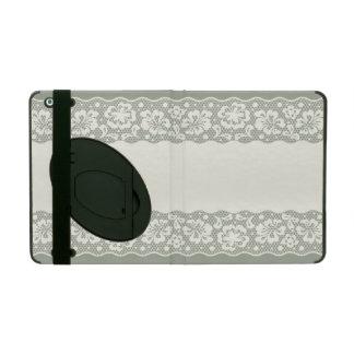Lace pattern, flower vintage 5 iPad folio cover