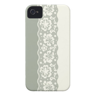 Lace pattern, flower vintage 5 iPhone 4 case