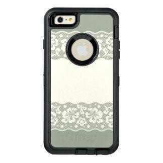 Lace pattern, flower vintage 5 OtterBox defender iPhone case