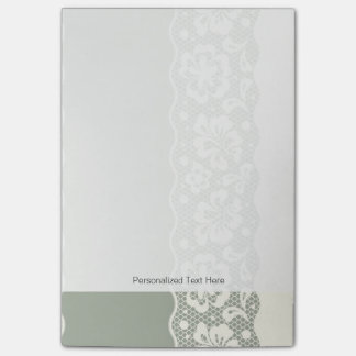 Lace pattern, flower vintage 5 post-it notes