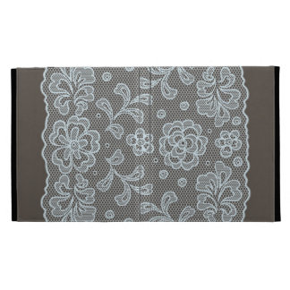 Lace pattern, flower vintage 6 iPad folio cover