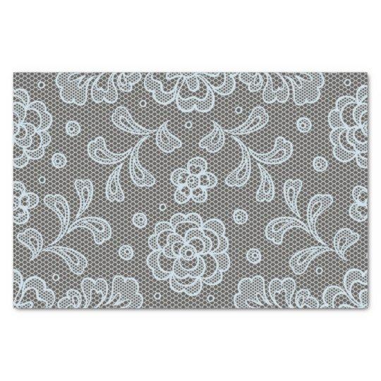 Lace pattern, flower vintage 6 tissue paper