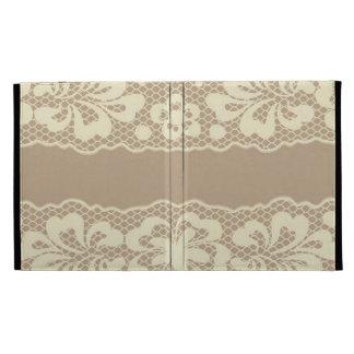 Lace pattern, flower vintage 7 iPad folio case