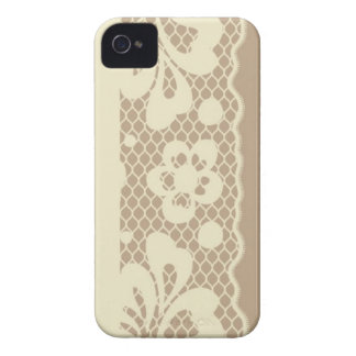 Lace pattern, flower vintage 7 iPhone 4 Case-Mate cases