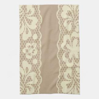 Lace pattern, flower vintage 7 tea towel