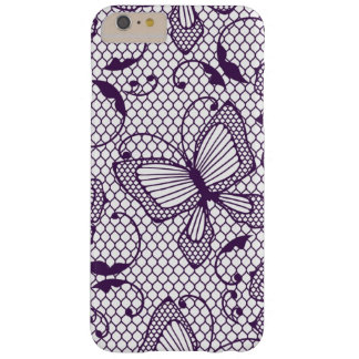 Lace pattern with butterflies barely there iPhone 6 plus case