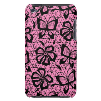 lace pattern with butterflies barely there iPod covers