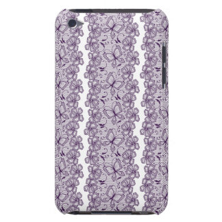 Lace pattern with butterflies Case-Mate iPod touch case