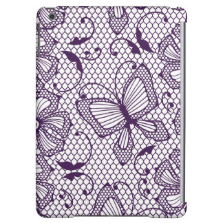 Lace pattern with butterflies iPad air cover