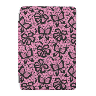 lace pattern with butterflies iPad mini cover