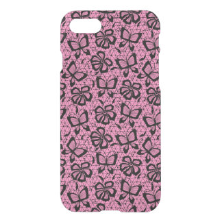 lace pattern with butterflies iPhone 8/7 case