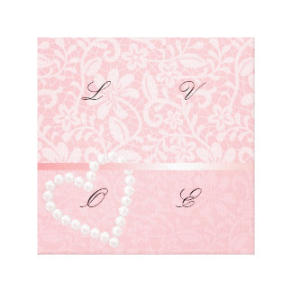 lace,pink,pearls,heart,girly,cute,trendy,cute,fun, canvas print