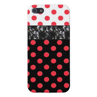 Lace Polka Dot iPhone 5 Covers