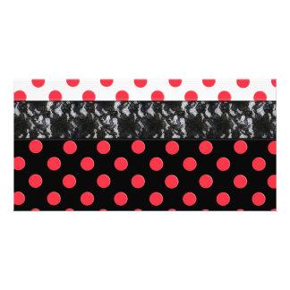Lace Polka Dot Photo Card Template