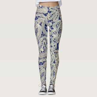 Lace print design Leggings