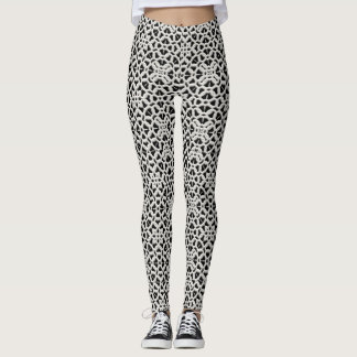 Lace Print Leggings