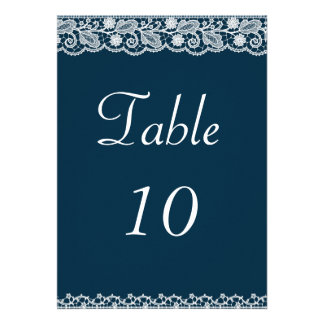 Lace Ribbon Table Number Announcement