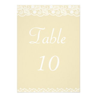 Lace Ribbon Table Number Personalized Announcement