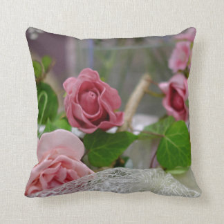 Lace Rose cushion