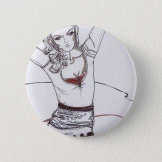 lace skirt fashion illustration 6 cm round badge