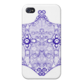 Lace strip Blue Cases For iPhone 4