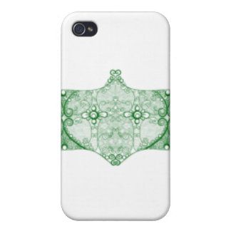 Lace Strip Green iPhone 4/4S Cover