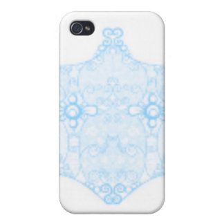 Lace Strip Light Blue iPhone 4/4S Cases