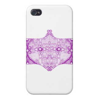 Lace Strip Purple iPhone 4/4S Covers