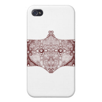 Lace strip Red iPhone 4/4S Covers