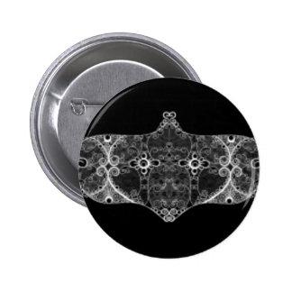Lace strip White 6 Cm Round Badge