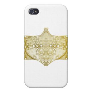 Lace Strip Yellow Cover For iPhone 4