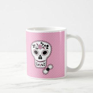 Lace Sugar Skull Mug