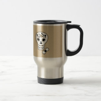 Lace Sugar Skull Coffee Mug