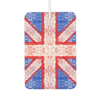 Lace Union Jack England Flag in Red, White, Blue Car Air Freshener