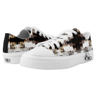 Lace Up Shoes Printed Shoes