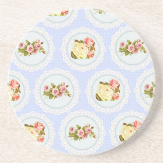 Lace Victorian Floral pattern Beverage Coasters